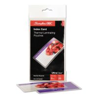 Swingline GBC UltraClear Thermal Laminating Pouches, 5mil, 5 1/2 x 3 1/2, Index Card, 25/PK SWI3202002