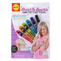 ALEX Toys Spa Sketch & Sparkle Tattoo Pens Kit NOTM413020