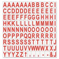 """MasterVision Interchangeable Magnetic Characters, Letters, Red, 3/4""""h BVCKT2221"""