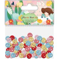 Santoro Kori Kumi II Mini Plastic Buttons 100/Pkg NOTM528888