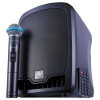 AmpliVox Bluetooth Wireless Portable Media Player PA System, 36W, Black APLSW725