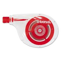 """Universal Deluxe Side-Application Correction Tape, Non-Refillable, 1/4"""" x 394"""", 10/Pack UNV75612"""