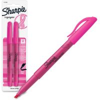 Sharpie Pink Ribbon Pocket Style Highlighters, Pink, 2/Pack SAN1741909
