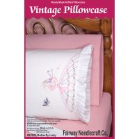 "Stamped Ruffled Edge Pillowcases 30""X20"" 2/Pkg NOTM319595"