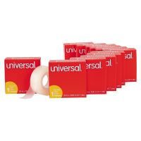 "Universal Invisible Tape, 3/4"" x 1000"", 1 Core, 12/Pack, Clear UNV83412"