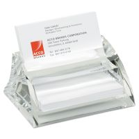 Swingline Stratus Acrylic Business Card Holder, Holds 40 3 1/2 x 2 Cards, Clear SWI10135