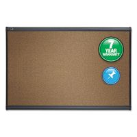 Quartet Prestige Bulletin Board, Brown Graphite-Blend Surface, 36 x 24, Aluminum Frame QRTB243G