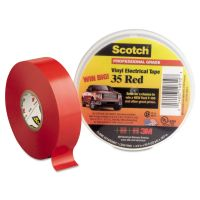"3M Scotch 35 Vinyl Electrical Color Coding Tape, 3/4"" x 66ft, Red MMM10810"