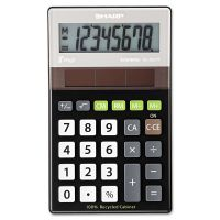 Sharp EL-R277BBK Recycled Series Handheld Calculator, 8-Digit LCD SHRELR277BBK