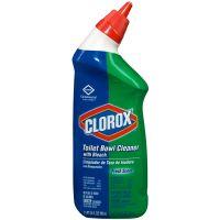 Clorox Toilet Bowl Cleaner with Bleach, Fresh Scent, 24oz Bottle, 12/Carton CLO00031CT