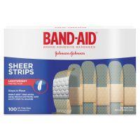 "BAND-AID Sheer Adhesive Bandages, 3/4"" x 3"", 100/Box JOJ4634"