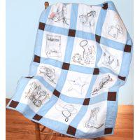 """Stamped Baby Quilt Blocks 9""""X9"""" 12/Pkg NOTM052727"""
