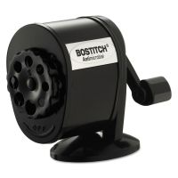 Bostitch Counter-Mount/Wall-Mount Antimicrobial Manual Pencil Sharpener, Black BOSMPS1BLK