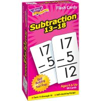Trend Subtraction 13-18 Flash Cards TEP53104