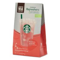 Starbucks VIA Refreshers, Strawberry Lemonade, 4.16 oz Pack, 6/Box SBK11036799