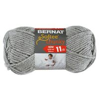 Bernat Softee Chunky Yarn - Gray Heather NOTM060364