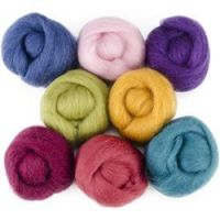 "Wool Roving 12"" .25oz 8/Pkg NOTM060174"