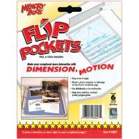 "Flip Pockets Peel & Stick Holders 4""X6"" 6/Pkg NOTM248736"