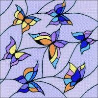 Butterflies Cushion Stamped Cross Stitch Kit NOTM058990