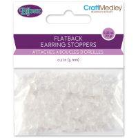 Rubber Flatback Earring Stoppers 5mm 200/Pkg NOTM204751