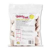 """Master Caster Quiet Feet Deluxe Noise Reducers, 1 1/4"""" dia, Circular, Beige, 100/Pack MAS88847"""
