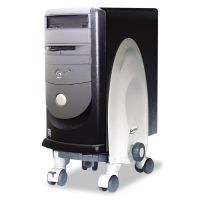 Kantek Deluxe Mobile CPU Stand, 12w x 12d x 18h, Gray KTKCS270G
