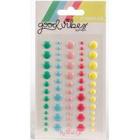 Good Vibes Adhesive Enamel Dots 60/Pkg NOTM361393