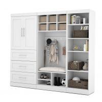 """Bestar Pur by Bestar 97"""" Mudroom Storage kit in White BESBES2685517"""