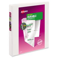 """Avery Durable 3-Ring View Binder, 1"""" Capacity, Slant Ring, White AVE17012"""