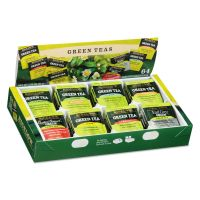 Bigelow Green Tea Assortment, Individually Wrapped, Eight Flavors, 64 Tea Bags/Box BTC30568