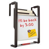 Quartet Hanging File Pocket with Dry Erase Board, Three Pockets, Letter, Black QRTOFD