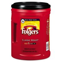 Folgers Ground Coffee, Classic Roast, Medium Roast, 48 oz, 1 Each FOL0529C