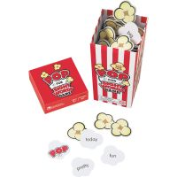 "Learning Resources POP for Sight Word Game, Red/White, 100 Popcorn Cards, 3""L x 3""W x 6.25""H LRNLER8430"
