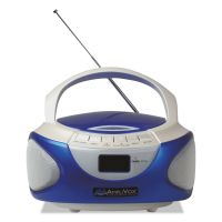 AmpliVox CD Boombox with Bluetooth, Blue APLSL1015
