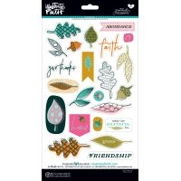 Illustrated Faith Gratitude Documented Chipboard Stickers NOTM058298