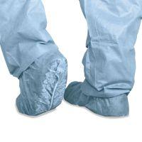 Medline Polypropylene Non-Skid Shoe Covers, Large, Blue, 100/Box MIICRI2002