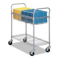 Safco Wire Mail Cart, 600-lb Cap, 18-3/4w x 39d x 38-1/2h, Metallic Gray SAF5236GR