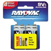 Rayovac High Energy Premium Alkaline Battery, 9V, 4/Pack RAYA16044TK