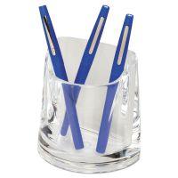 Swingline Stratus Acrylic Pen Cup, 4 1/2 x 2 3/4 x 4 1/4, Clear SWI10137