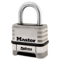 "Master Lock ProSeries Stainless Steel Easy-to-Set Combination Lock, Stainless Steel, 5/16"" MLK1174D"