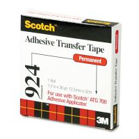"Scotch Adhesive Transfer Tape, 1/2"" Wide x 36yds MMM92412"