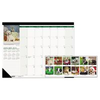 House of Doolittle Recycled Puppies Photographic Monthly Desk Pad Calendar, 18 1/2 x 13, 2019 HOD1996