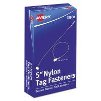 "Avery Nylon Tag Fasteners, Weatherproof, 5"" Long, 1,000/Box AVE18800"