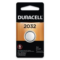 Duracell Button Cell Lithium Electronics Battery, 2032, 3V, 6/Box DURDL2032BPK