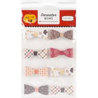 Hello Fall Decorative Bows 8/Pkg NOTM034049
