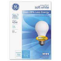 GE Halogen Bulb, Globe, 43 Watts, Soft White, 4/Pack GEL66247