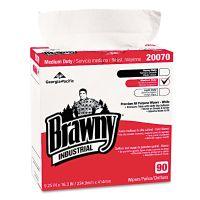 Georgia Pacific Professional Medium-Duty Premium Wipes, 9 1/4 x 16 3/8, White, 90/Box GPC2007003