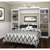 "Bestar Pur by Bestar 115"" Queen Wall bed kit in White BESBES2688317"