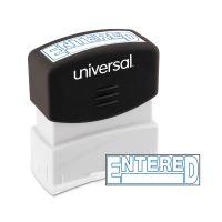 Universal Message Stamp, ENTERED, Pre-Inked One-Color, Blue UNV10052