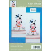"""Stamped Kitchen Towels For Embroidery 20""""X28"""" 2/Pkg NOTM371311"""